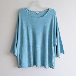 Pure Jill Kimono Sleeve Boxy Pullover Sweater